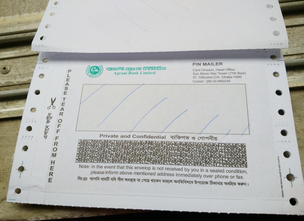 Lấy thông tin ở phong bao bì cho lần đầu nhận thẻ