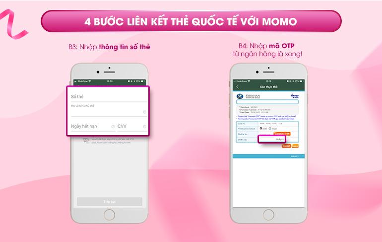Hướng dẫn sử dụng thẻ Visa liên kết với MoMo